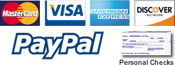 design42 New Media Web Design accepts all major Credit Cards, Personal Checks & PayPal - Installment Plans Available.