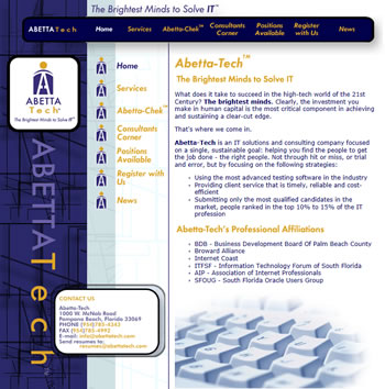 AbettaTech Website - by design42 New Media Web Design. Call (828) 692-7270. Find out what we can do for your business!