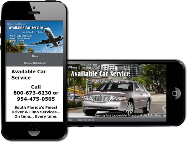 Available Car Service: Luxury Transportation Services Responsive Website - design42 New Media Web Design (828) 692-7270