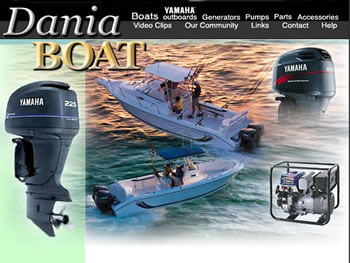 Dania Boat Website - by design42 New Media Web Design. Call (828) 692-7270. Find out what we can do for your business!