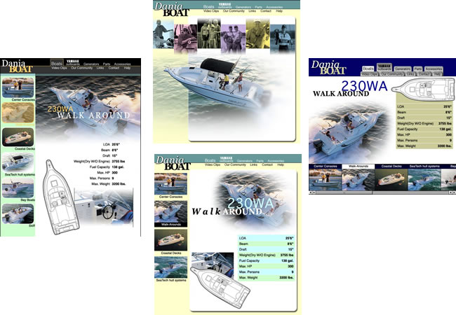 Dania Boats Website - by design42 New Media Web Design. Call (828) 692-7270. Find out what we can do for your business!