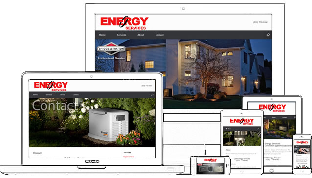 Energy Services is a WordPress website using SiteOrigin's Vantage Theme and Page Builder. This site was completed in just a few hours.  - design42 New Media Web Design (828) 692-7270