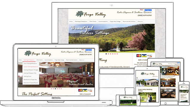 Collateral Package for Forge Valley Event Center - design42 New Media Web Design (828) 692-7270