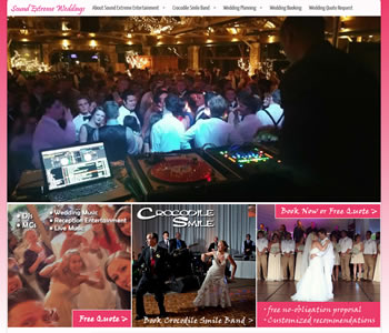 Sound Extreme Weddings Website - design42 New Media Web Design (828) 692-7270