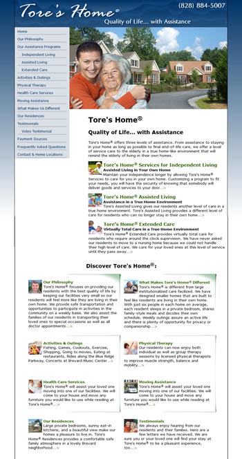 Tore's Home Website - design42 New Media Web Design (828) 692-7270