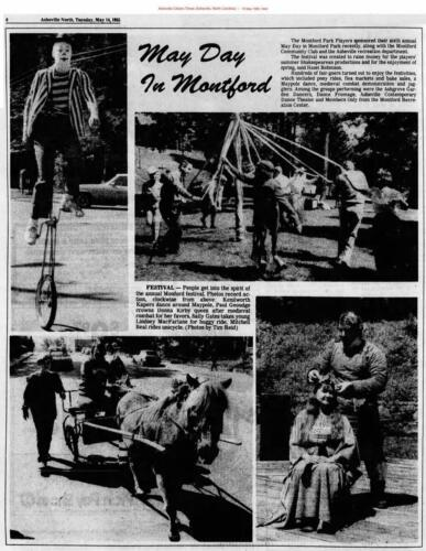 """Montford Park Players 1985 """"Paul Geoudge crowns Donna Kirby queen after medieval combat for her favors"""""""