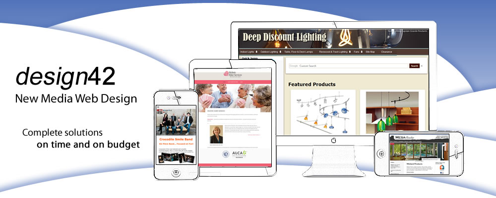 design42 New Media Web Design - Complete Solutions, On time. On budget. 828-692-7270