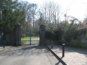 The gates to Leixlip Castle