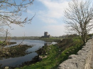 Dunguaire Castle is small, with a 75 foot tower and defensive walls.