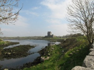 The name Dunguaire means Dun of King Guaire.  Dun means fort.  Guaire was the legendary king of Connacht.