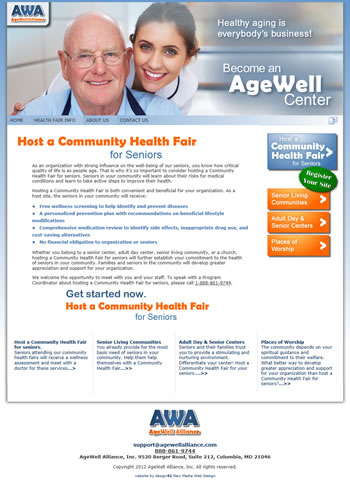 Website for AgeWell Alliance - by design42 New Media Web Design. Call (828) 692-7270. Find out what we can do for your business!