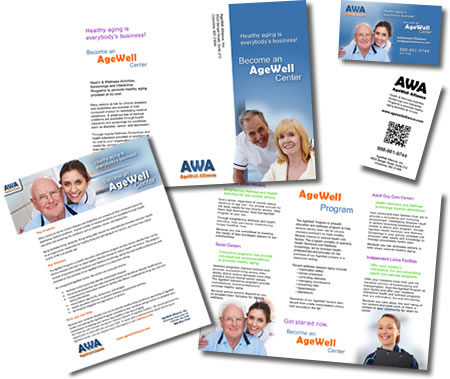 Collateral Package for AgeWell Alliance - by design42 New Media Web Design. Call (828) 692-7270. Find out what we can do for your business!