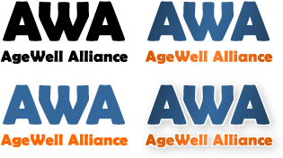 Logos for Agewell Alliance - by design42 New Media Web Design. Call (828) 692-7270. Find out what we can do for your business!