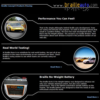 Braille Auto Website - by design42 New Media Web Design. Call (828) 692-7270. Find out what we can do for your business!