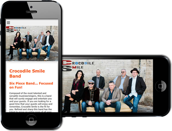 Crocodile Smile Party Band Responsive Website - design42 New Media Web Design (828) 692-7270