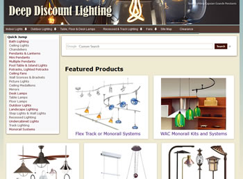 Deep Discount Lighting Website - design42 New Media Web Design (828) 692-7270