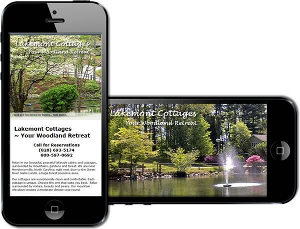 Lakemont Cottages: Cabin and Cottage Rental Responsive Website - design42 New Media Web Design (828) 692-7270
