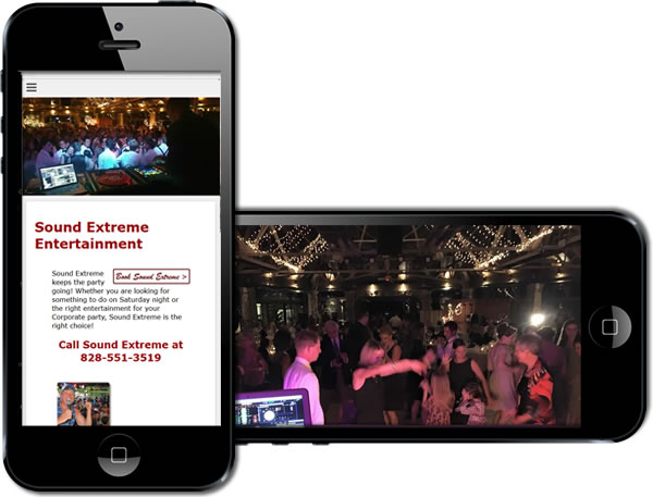 Sound Extreme Entertainment Responsive Website - design42 New Media Web Design (828) 692-7270