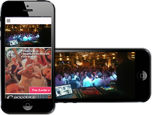 Sound Extreme Weddings Responsive Website - design42 New Media Web Design (828) 692-7270