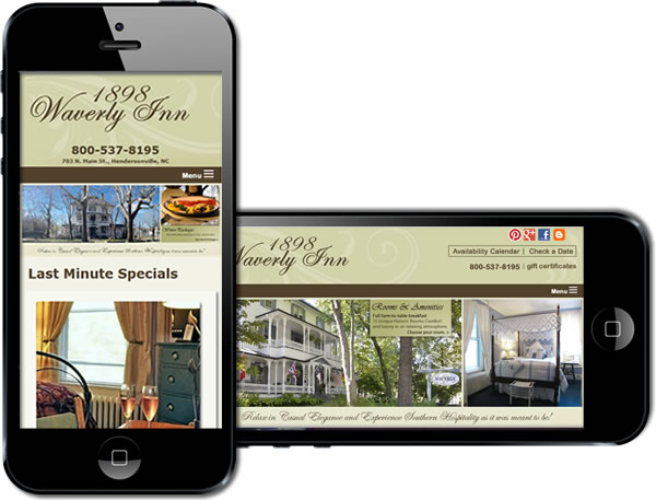1898 Waverly Inn Responsive Website - design42 New Media Web Design (828) 692-7270